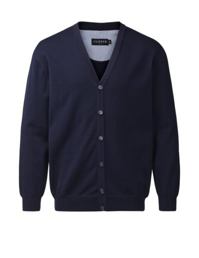 Clipper cardigan w/buttons Navy