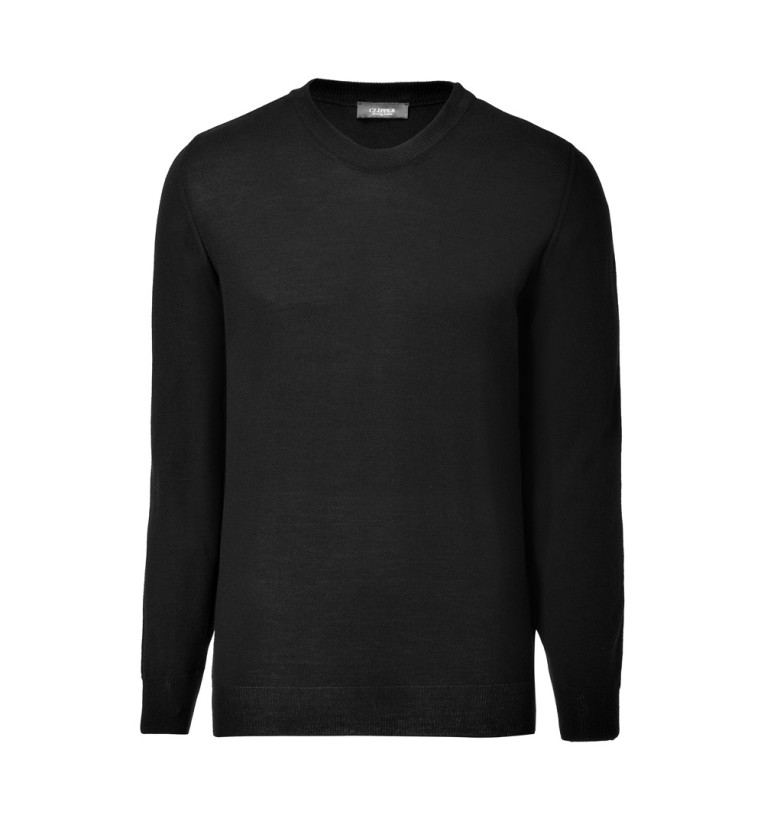 Clipper men's Merino o-neck Black