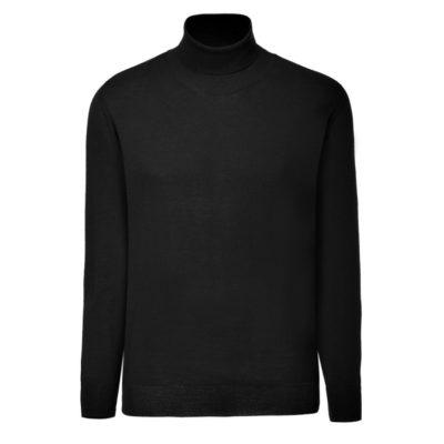 Clipper men's Merino Rollneck Black