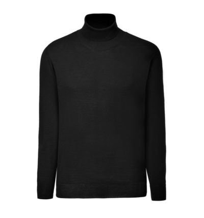 Clipper men's Merino Rollneck Black