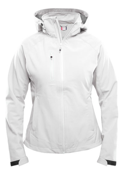 Milford Softshell Ladies Wit van Clique - Categorie Jackets