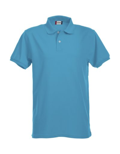 Premium Heren Polo Turquoise van Clique - Categorie Polo