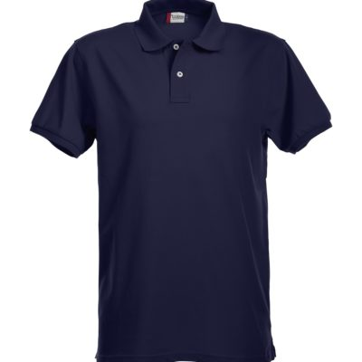 Premium Heren Polo Dark Navy van Clique - Categorie Polo