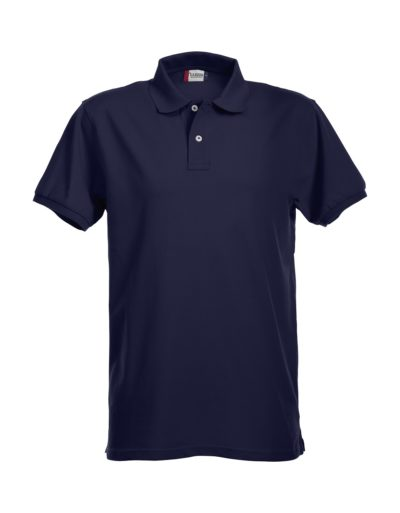 Premium Heren Polo Dark Navy van Clique - Categorie Polo