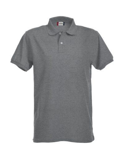 Premium Heren Polo Grijsmelange van Clique - Categorie Polo