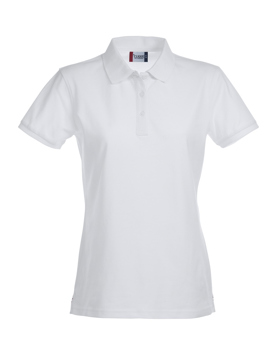 Premium Dames Polo Wit van Clique - Categorie Polo