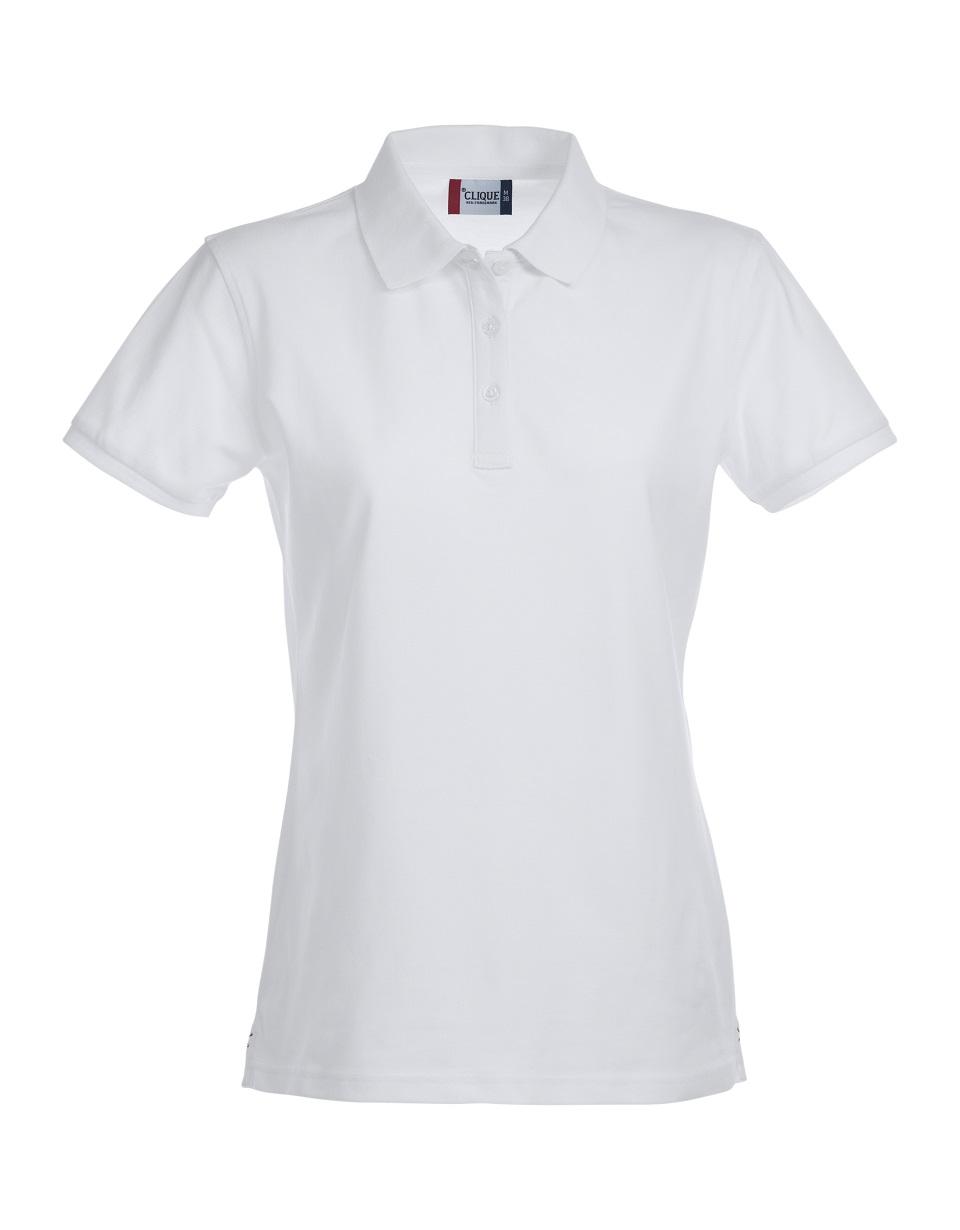 Premium Dames Polo Wit van Clique - Categorie Polo