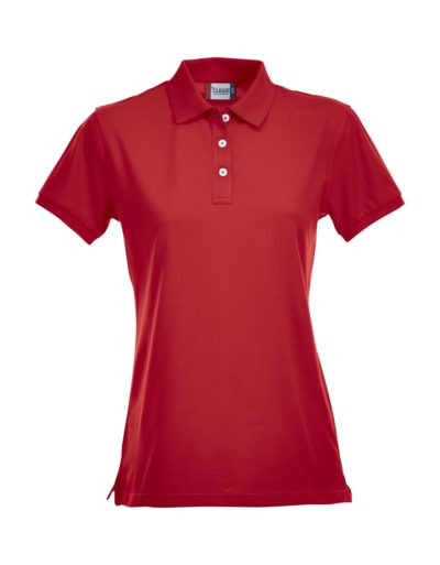 Premium Dames Polo Red van Clique - Categorie Polo