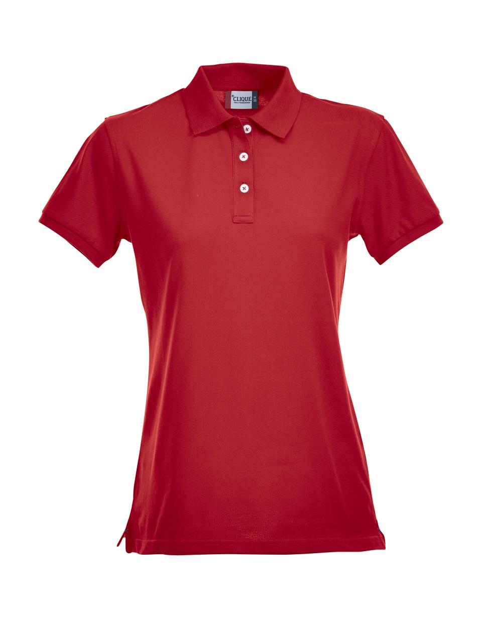 Premium Dames Polo Red van Clique - Categorie Polo