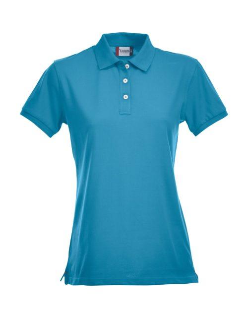 Premium Dames Polo Turquoise van Clique - Categorie Polo