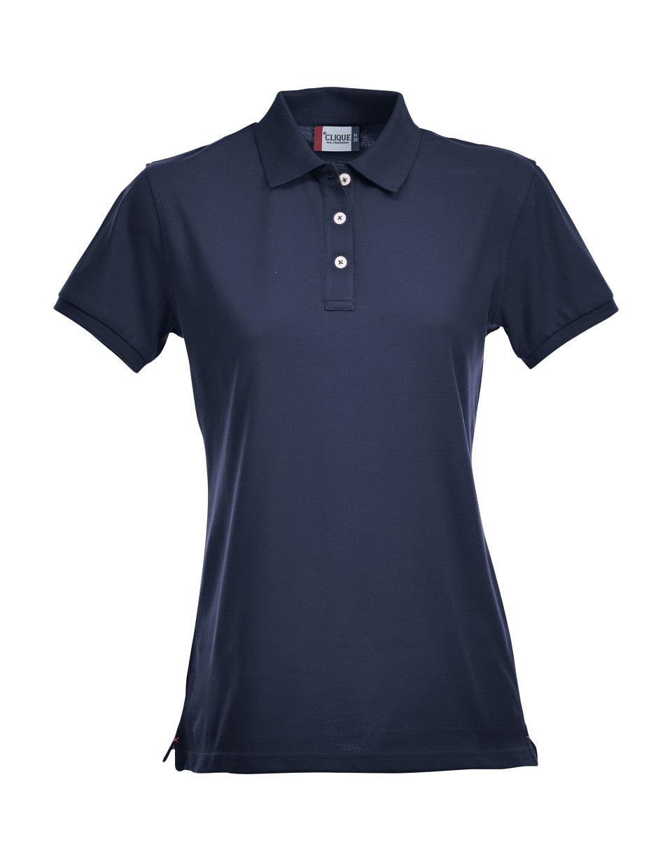 Premium Dames Polo Dark Navy van Clique - Categorie Polo