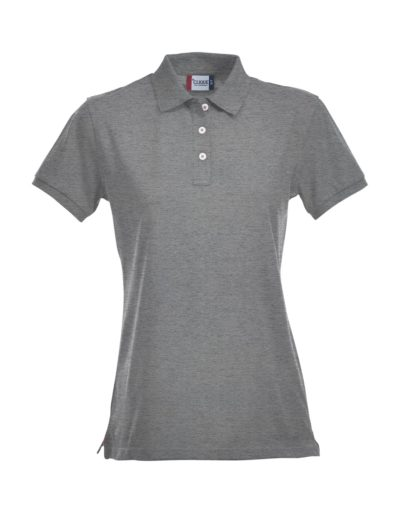 Premium Dames Polo Grijsmelange van Clique - Categorie Polo