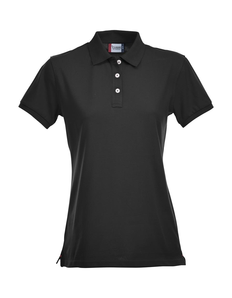 Premium Dames Polo Zwart van Clique - Categorie Polo