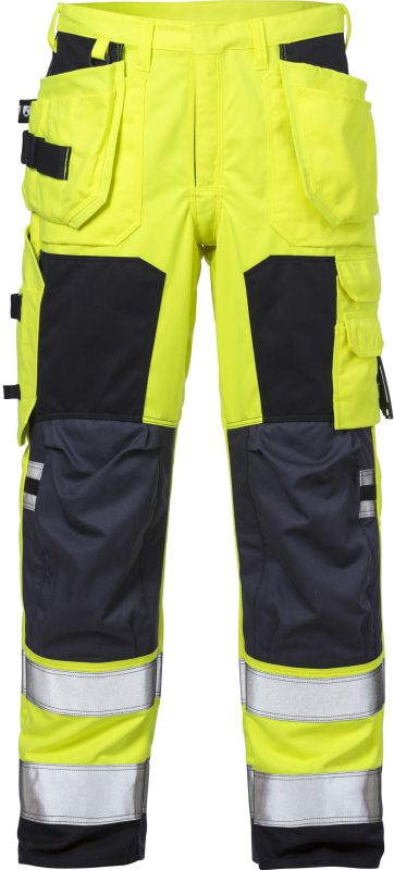 Fristads Kansas Vlamvertragende high vis werkbroek dames klasse 2 2775 ATHS