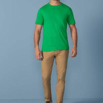 Gildan T-shirt Premium Katoen voor Heren 30 Wit