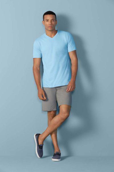 Gildan V-hals T-shirt Premium Katoen voor Heren 30 Wit