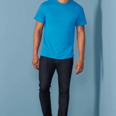 Gildan T-shirt Heavy Katoen voor Heren 03 Geel Haze