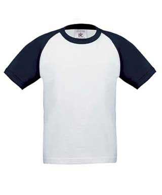 B&C Base-Ball kids White / Navy