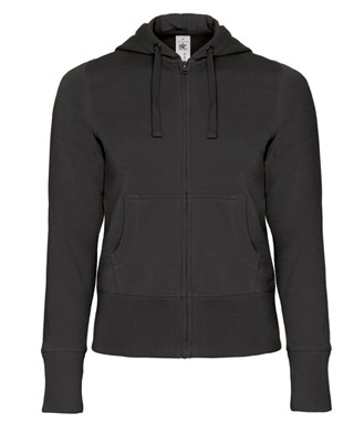 B&C Hooded Full Zip women Black