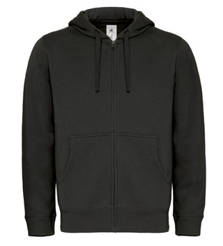 B&C Hooded Full Zip men Black