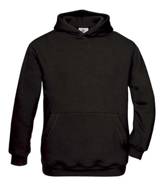 B&C Hooded kids Black