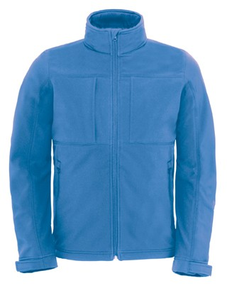 B&C Hooded softshell men Azure
