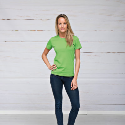 L&S T-shirt iTee Korte mouw voor Dames Wit
