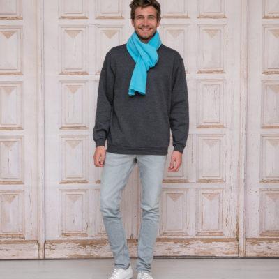 L&S Polar Fleece Sjaal Turquoise