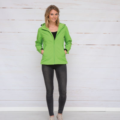 L&S Jas Capuchon Softshell  voor Dames Wit