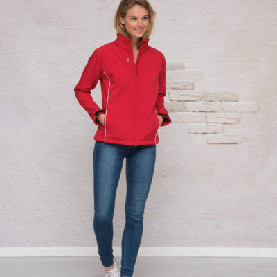 L&S Jas Softshell  voor Dames Wit
