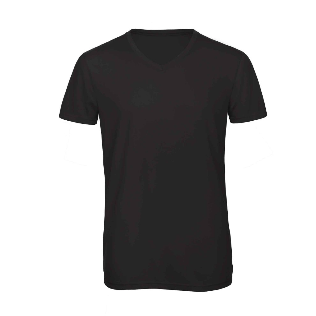 B&C TM057 V Triblend men Black