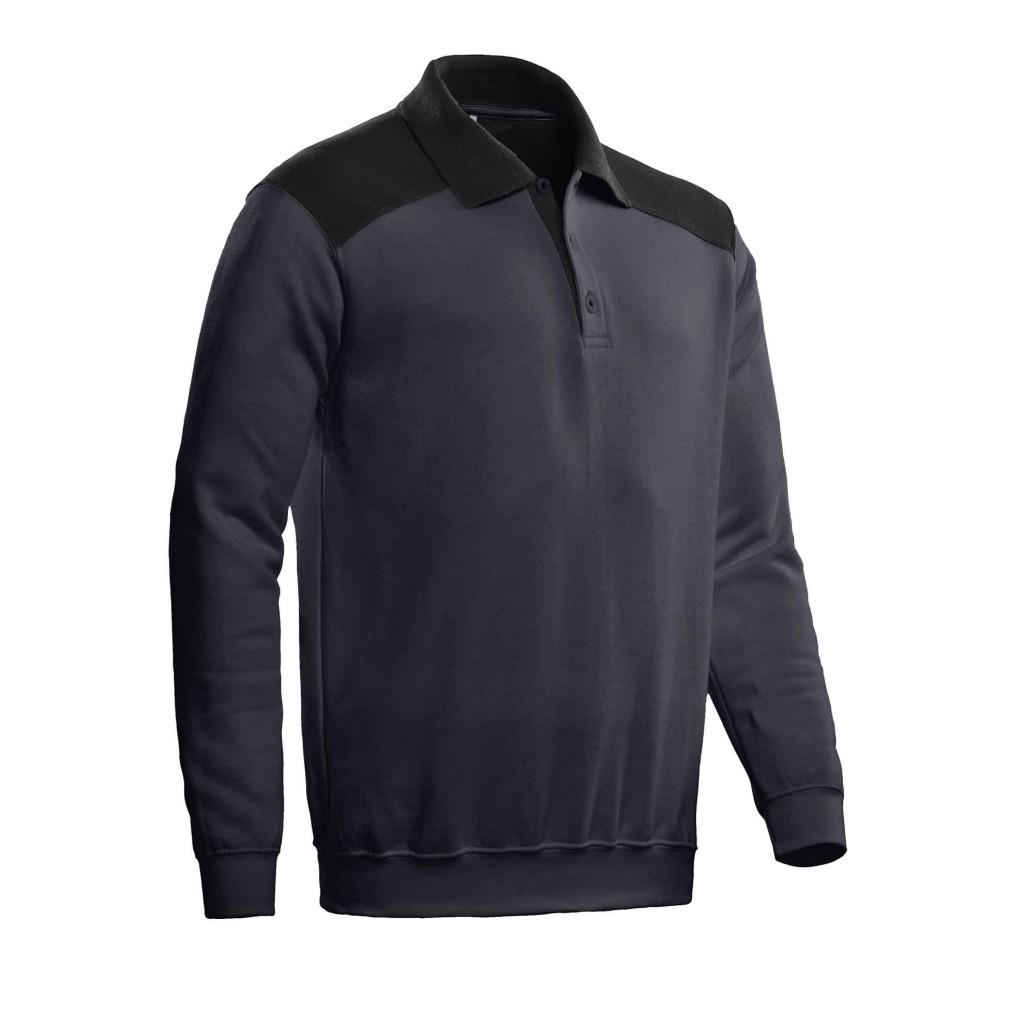 SANTINO Polosweater Tesla Graphite / Zwart