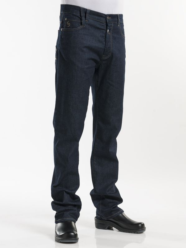 Chaud Devant Jeans Blue Denim Stretch - Koksbroeken