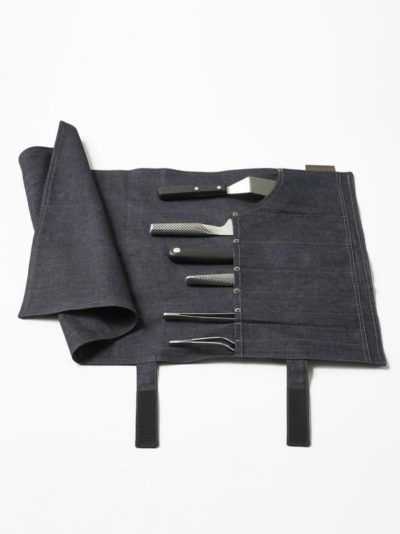 Chaud Devant Knife Roll Blue Denim - Horeca accessoires