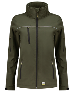 402009armyfront Softshell Luxe Dames